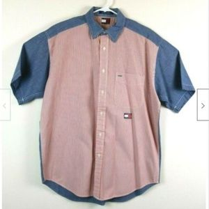 Tommy Hilfiger Short Sleeve Button Up Cotton Shirt